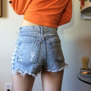 Carmar Shorts - LF CARMAR Open Side Cut Out Sexy Raw Edge Shorts